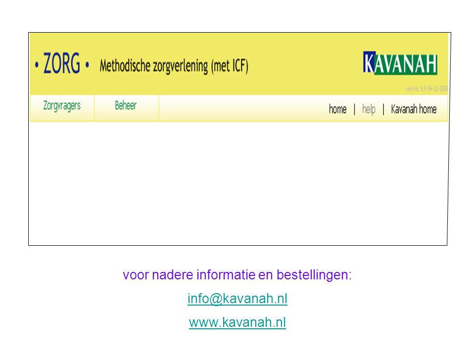 voor nadere informatie en bestellingen: info@kavanah.nl www.kavanah.nl