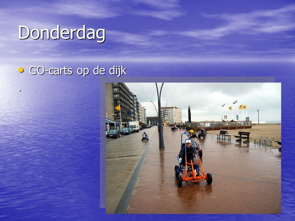 25 Donderdag • GO-carts op de dijk.