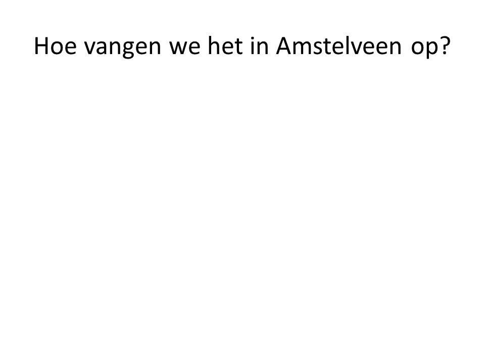 Hoe vangen we het in Amstelveen op?