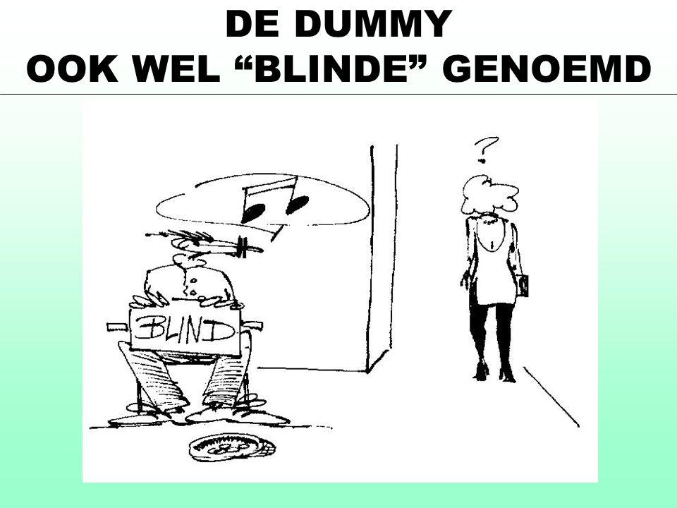 DE DUMMY OOK WEL BLINDE GENOEMD