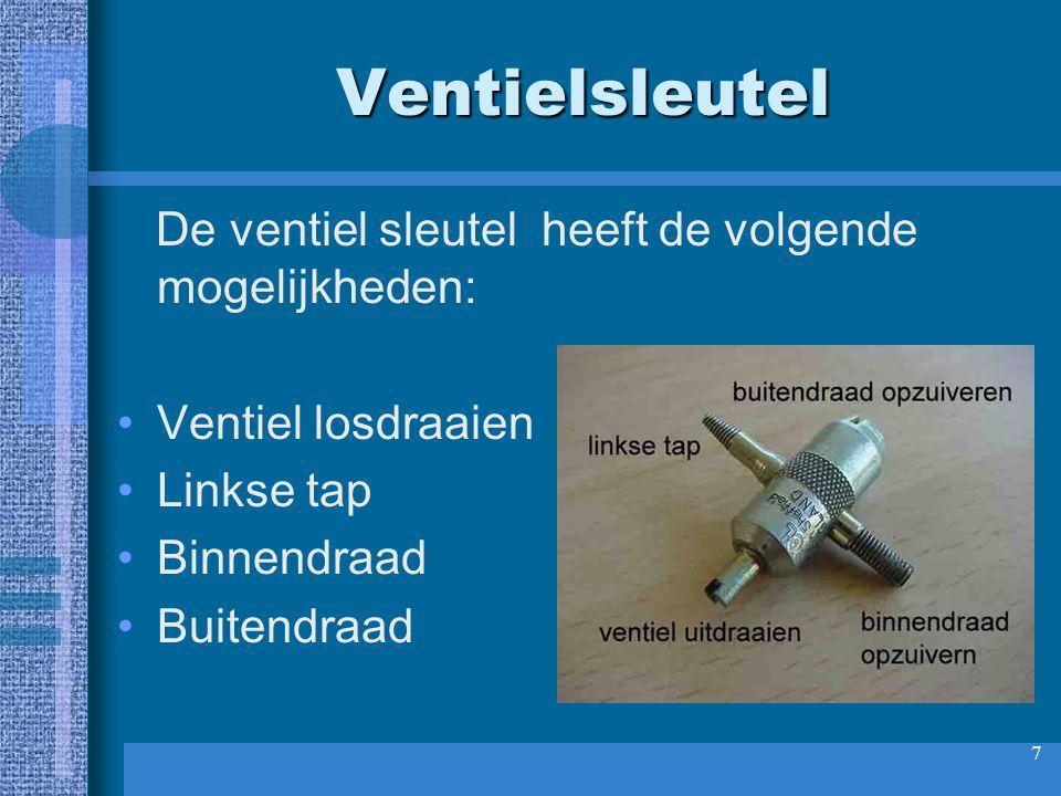 8 Ventiel verwijderen Verwijder het ventiel. Je kunt dit met de kant met het sleufje