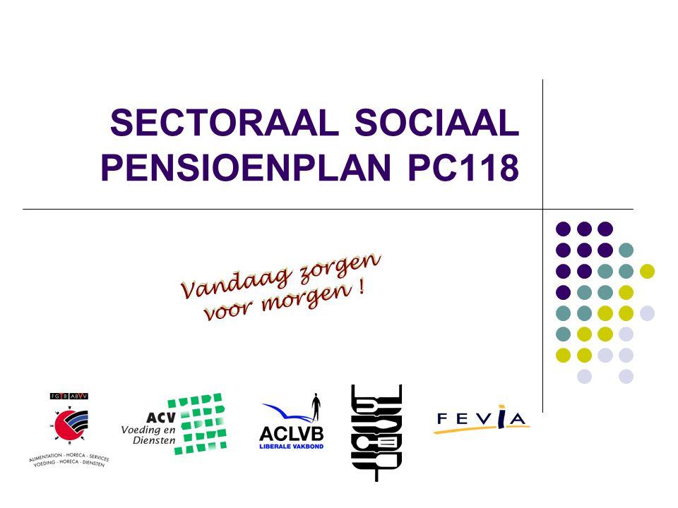 SECTORAAL SOCIAAL PENSIOENPLAN PC118 Vandaag zorgen voor morgen ! Vandaag zorgen voor morgen !