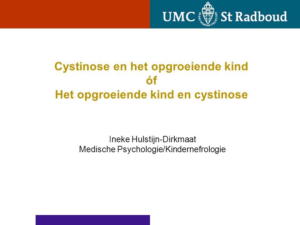 Cystinose invloed op de ontwikkeling psychosociaal functioneren ??.