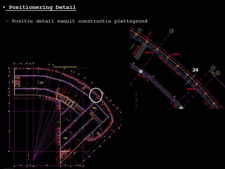 - Positie detail vanuit constructie plattegrond • Positionering Detail 24