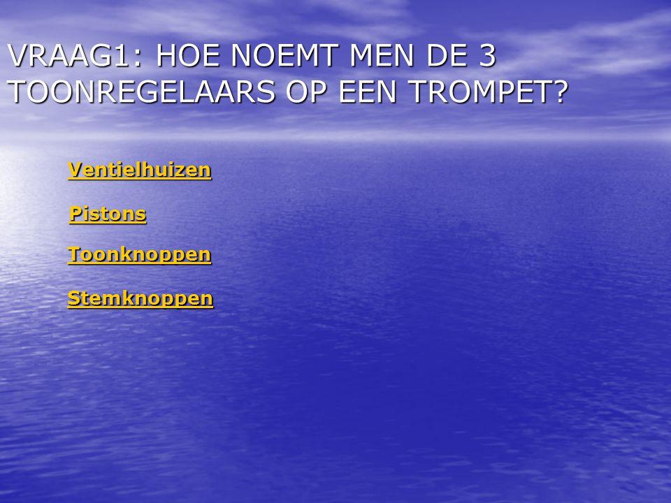 VRAAG1: HOE NOEMT MEN DE 3 TOONREGELAARS OP EEN TROMPET.