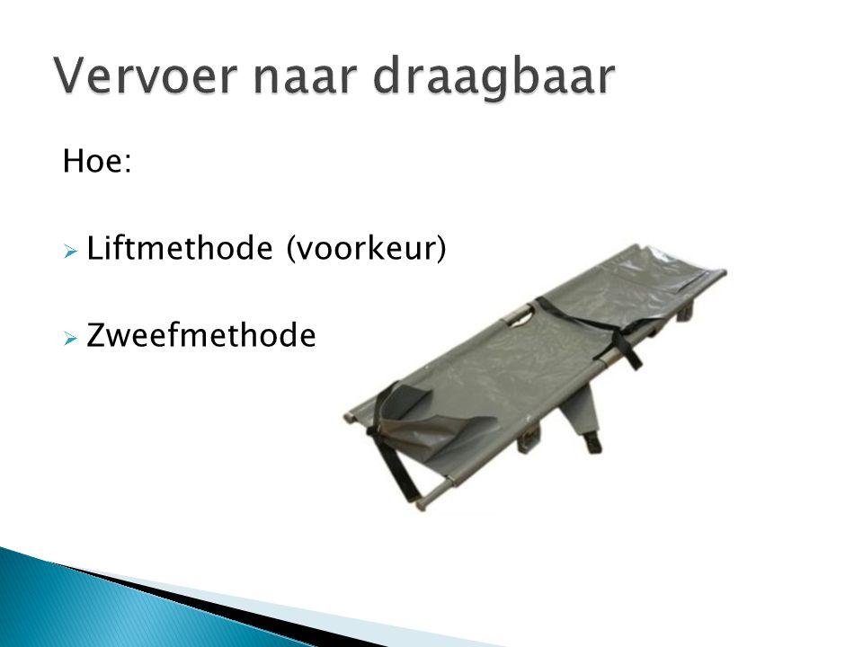 Hoe:  Liftmethode (voorkeur)  Zweefmethode