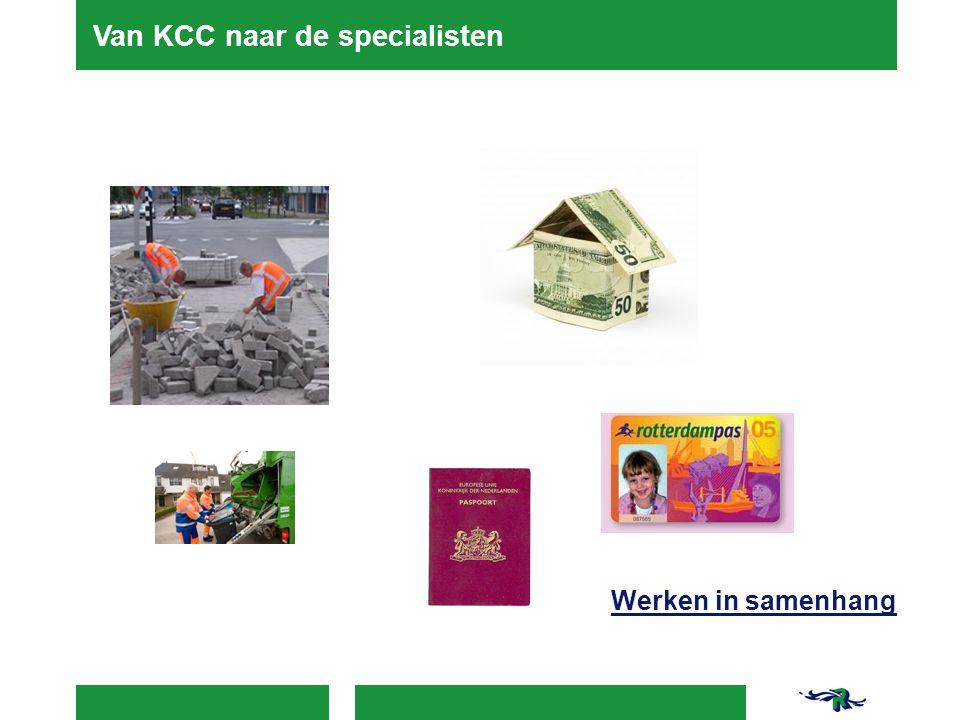 Van KCC naar de specialisten Werken in samenhang