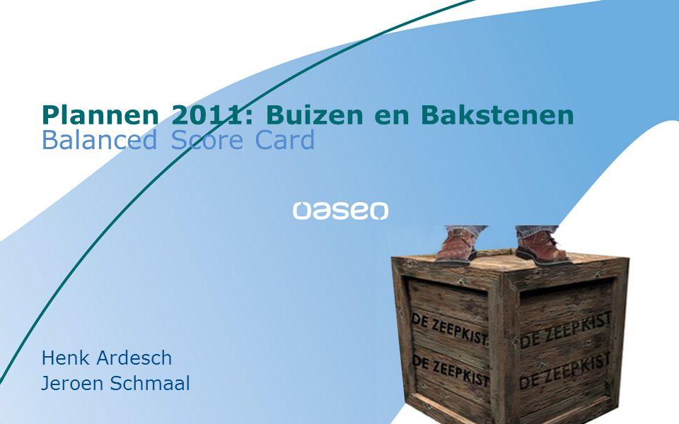 Plannen 2011: Buizen en Bakstenen Balanced Score Card Henk Ardesch Jeroen Schmaal