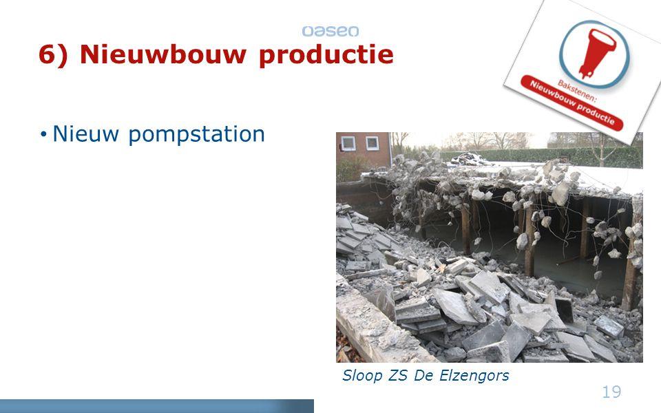 Sloop ZS De Elzengors 19 6) Nieuwbouw productie • Nieuw pompstation