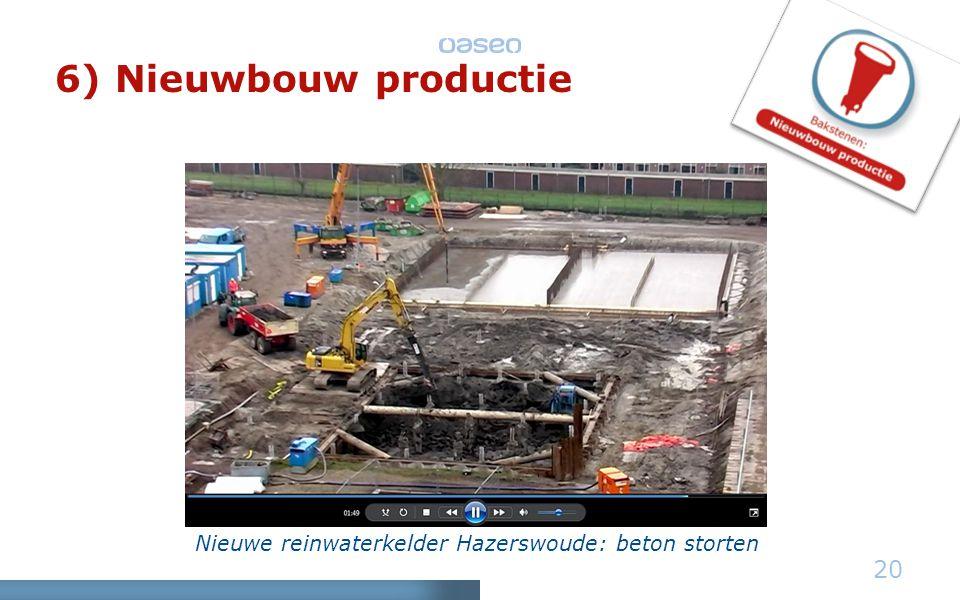 Nieuwe reinwaterkelder Hazerswoude: beton storten 20 6) Nieuwbouw productie