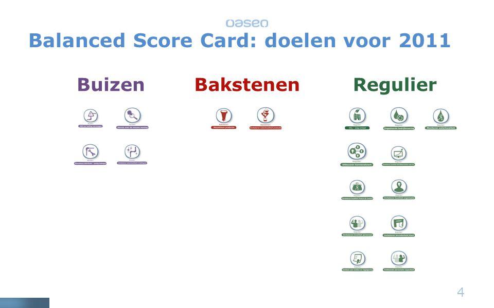 4 BuizenBakstenenRegulier Balanced Score Card: doelen voor 2011