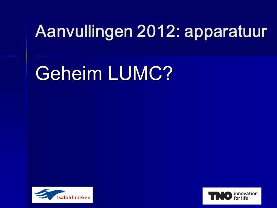 Geheim LUMC Aanvullingen 2012: apparatuur