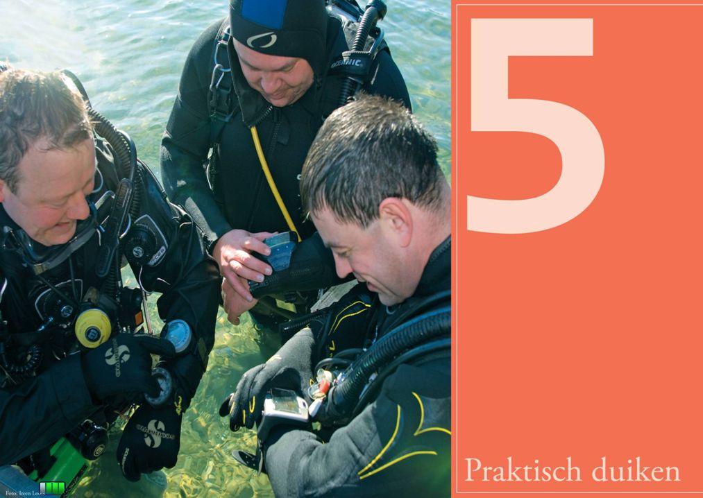 Sportduiken onze passie Extra veiligheid  Stippel zo mogelijk een parcours uit met een voorwaarts duikprofiel.