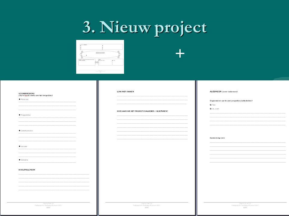 3. Nieuw project +