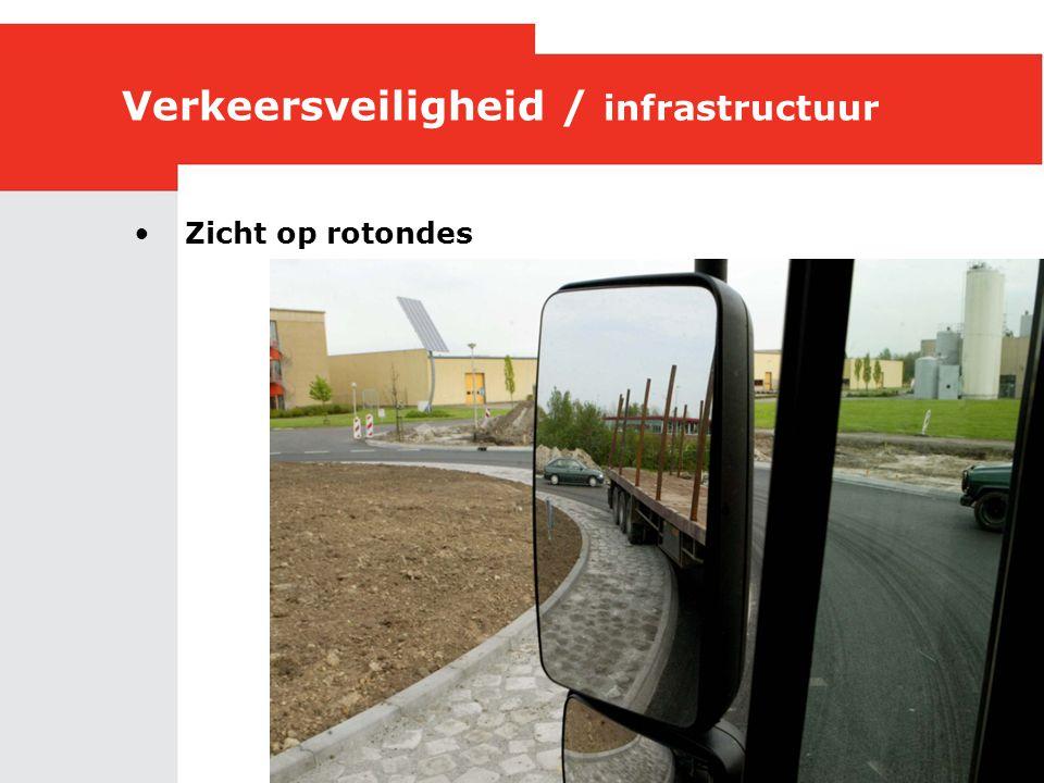 Verkeersveiligheid / infrastructuur •Zicht op rotondes
