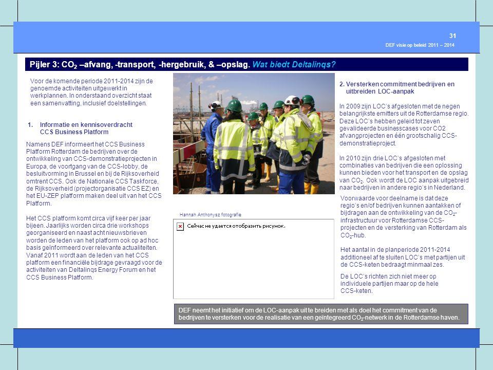 Voor de komende periode 2011-2014 zijn de genoemde activiteiten uitgewerkt in werkplannen. In onderstaand overzicht staat een samenvatting, inclusief