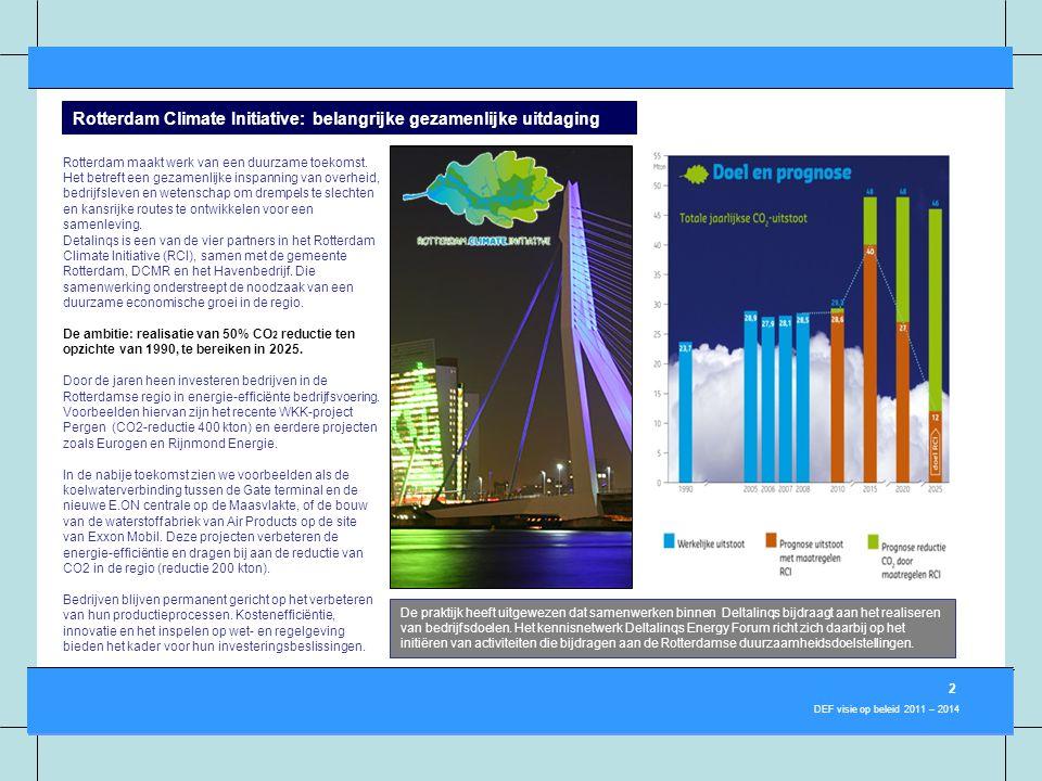 3 DEF visie op beleid 2011 – 2014 De praktijk heeft uitgewezen dat samenwerken binnen Deltalinqs bijdraagt aan het realiseren van bedrijfsdoelen. Het