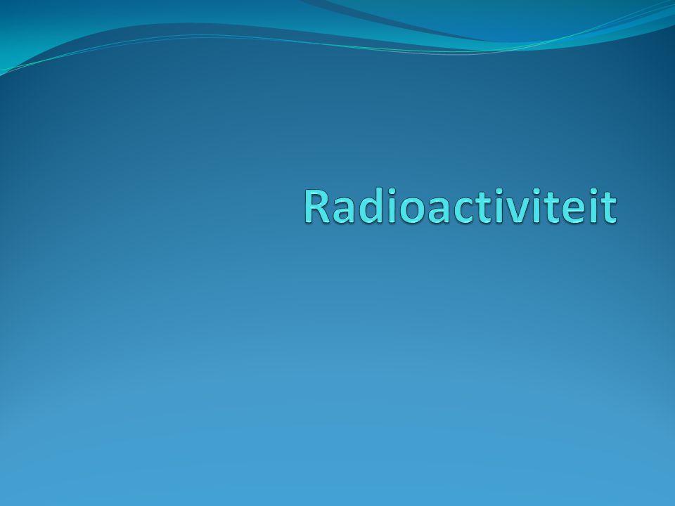 Ioniserende straling  Radioactieve atomen zenden ioniserende straling uit.