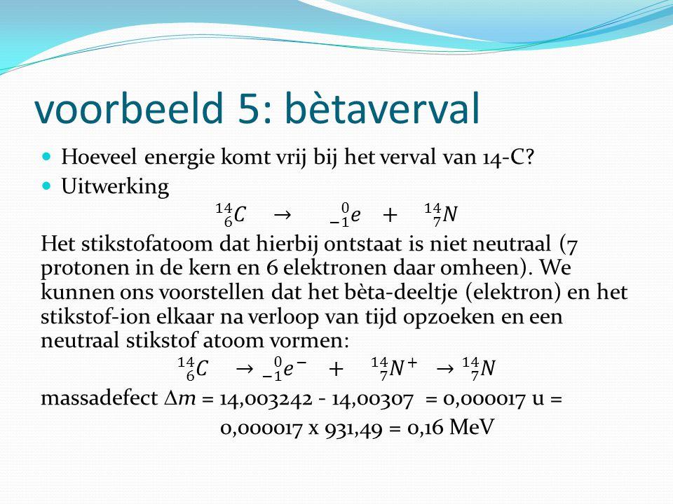 voorbeeld 5: bètaverval