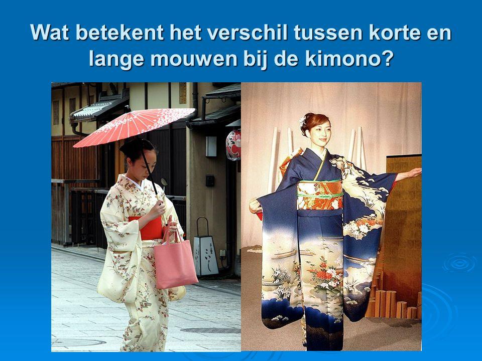 Wat betekent het verschil tussen korte en lange mouwen bij de kimono?