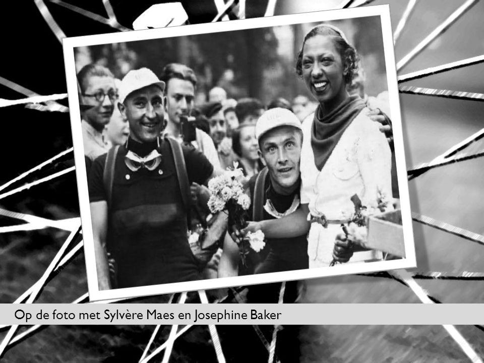 Op de foto met Sylvère Maes en Josephine Baker