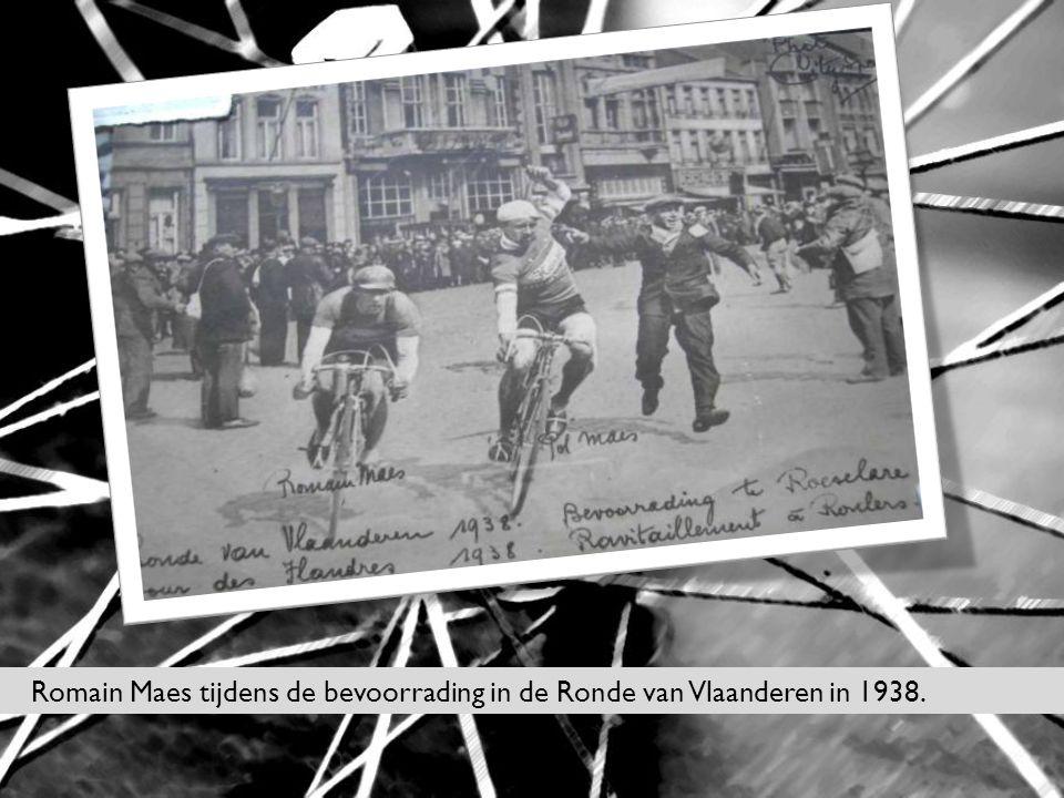 Romain Maes tijdens de bevoorrading in de Ronde van Vlaanderen in 1938.