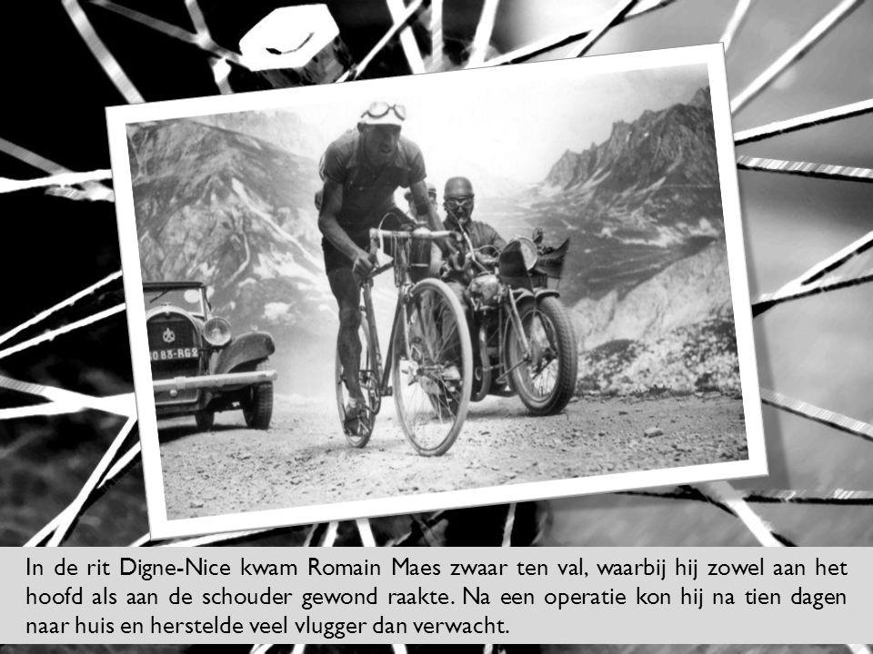 18 de rit: Bordeaux-La Rochelle over 192 km // Een dubbele rit waarbij Romain Maes tijdens de tijdrit het kader van zijn fiets brak.