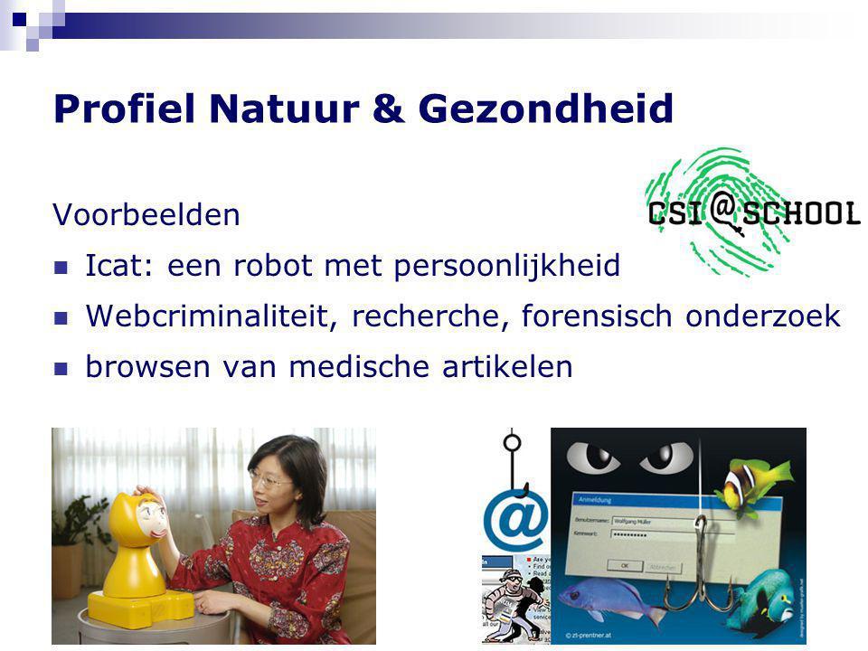Informatica in alle profielen  Voorbeelden Profiel Natuur & Techniek  surveillance  videobewaking  robotica  robocup biometrie gezichtsherkenning