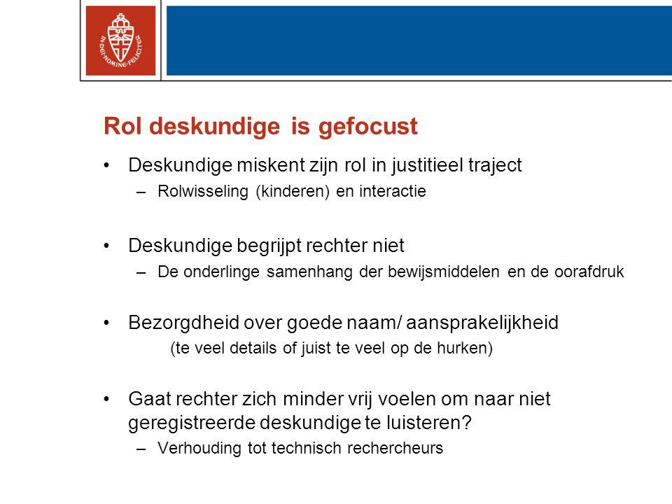 Conclusie •Opening Nederlands register gerechtelijk deskundigen •Enige skepsis of het nodig was, maar ….