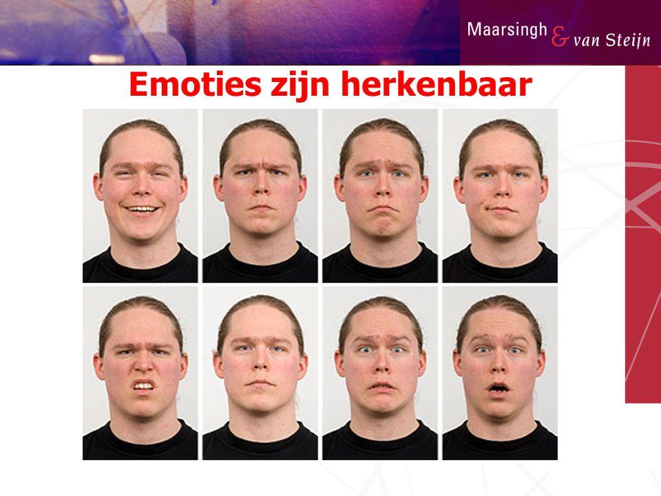 Emoties zijn herkenbaar