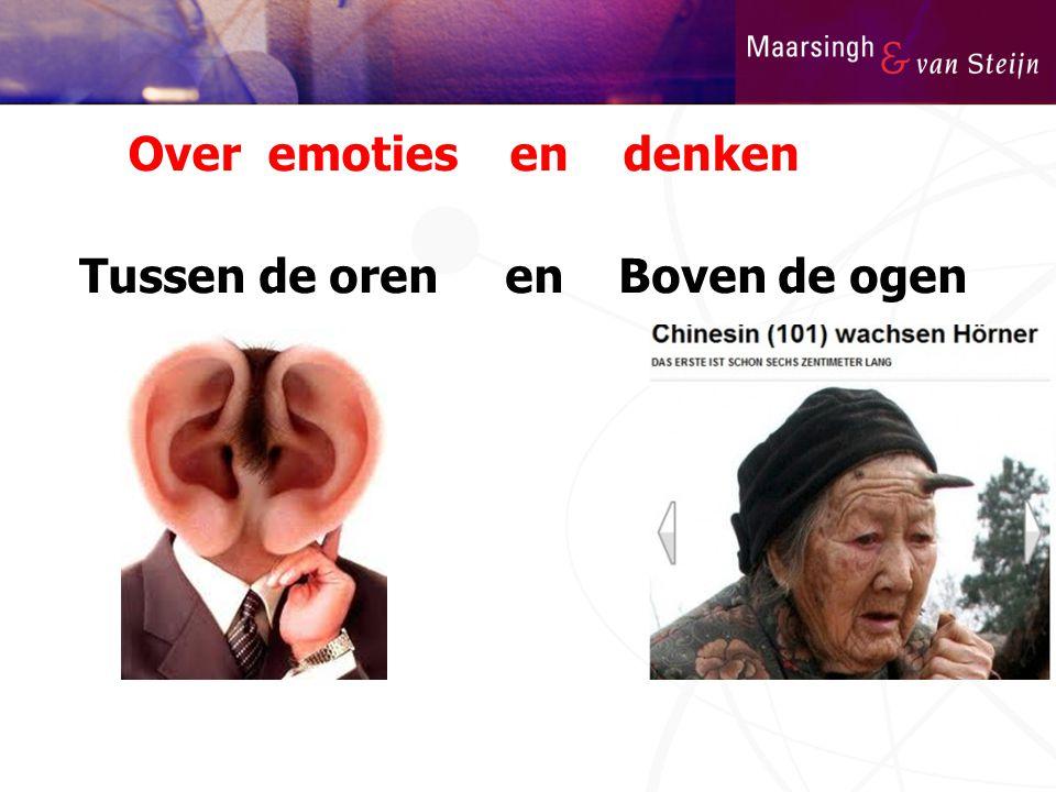 Over emoties en denken Tussen de oren en Boven de ogen