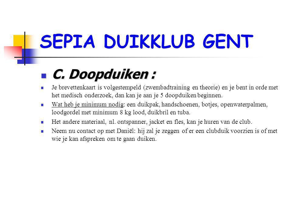 SEPIA DUIKKLUB GENT  C.