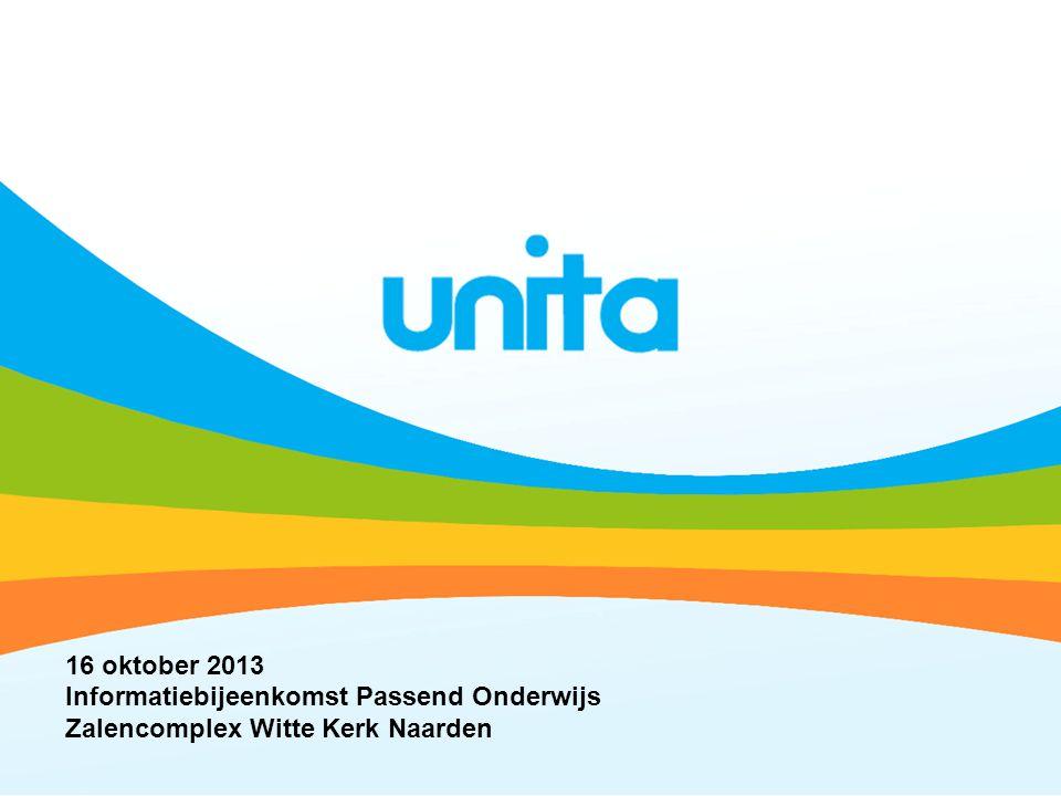 16 oktober 2013 Informatiebijeenkomst Passend Onderwijs Zalencomplex Witte Kerk Naarden