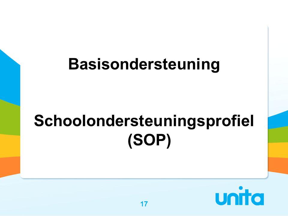 17 Basisondersteuning Schoolondersteuningsprofiel (SOP)