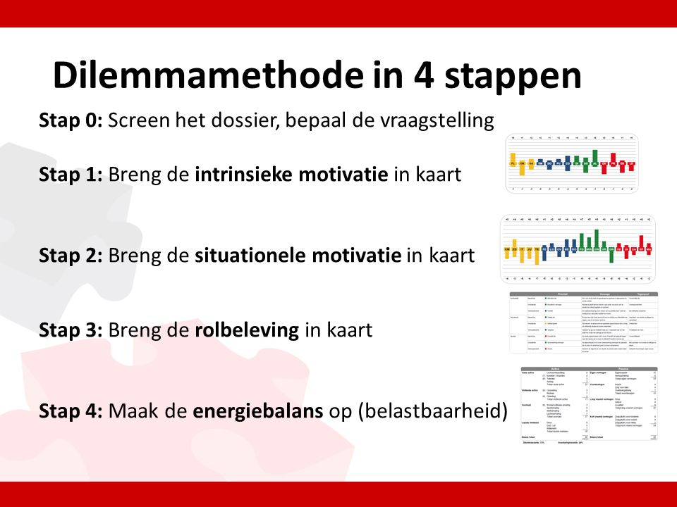Stap 1: Intrinsieke motivatie • Wie is het individu* eigenlijk.