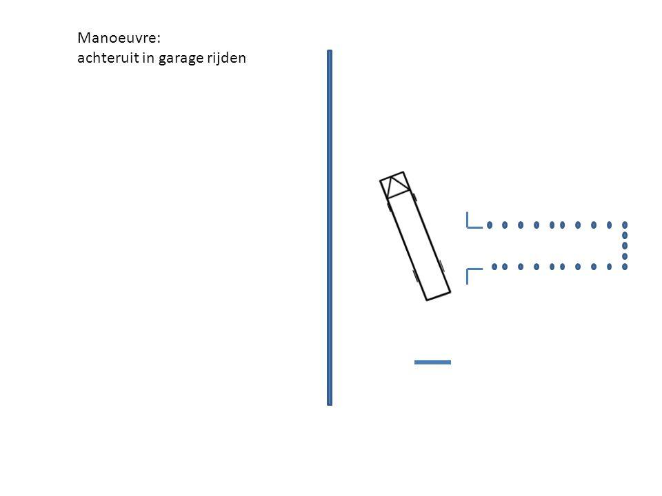 Manoeuvre: achteruit in garage rijden