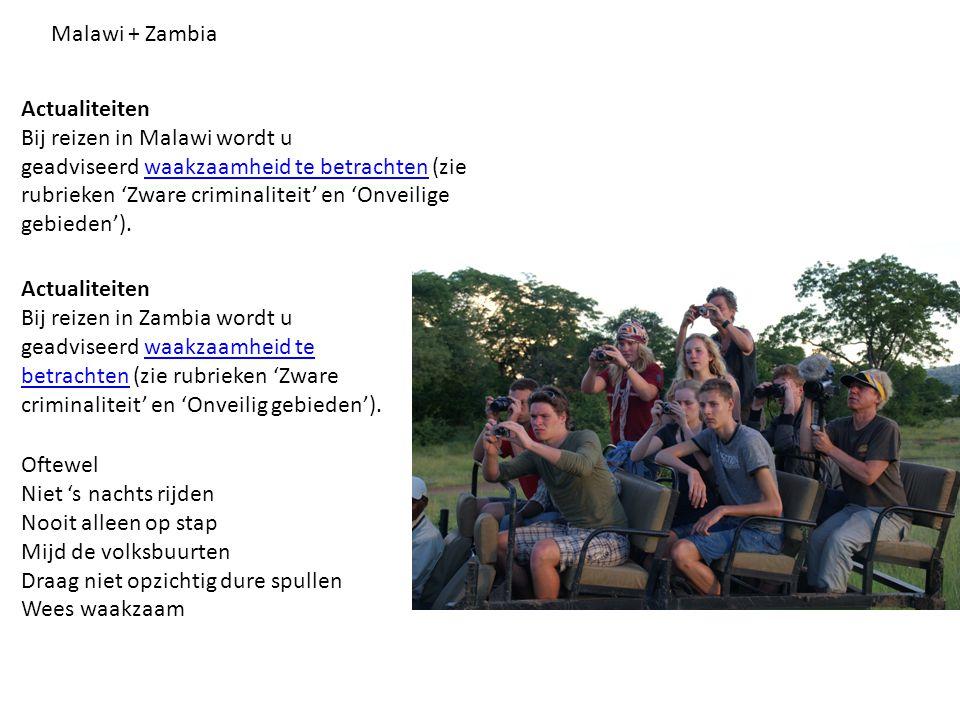 Zimbabwe Vanwege de politieke onvoorspelbare situatie wordt reizigers in en naar Zimbabwe geadviseerd waakzaamheid waakzaamheid te betrachtenbetrachten, samenscholingen en demonstraties te mijden, de berichtgeving in de media te volgen en zich goed te informeren over de actuele ontwikkelingen alvorens af te reizen.