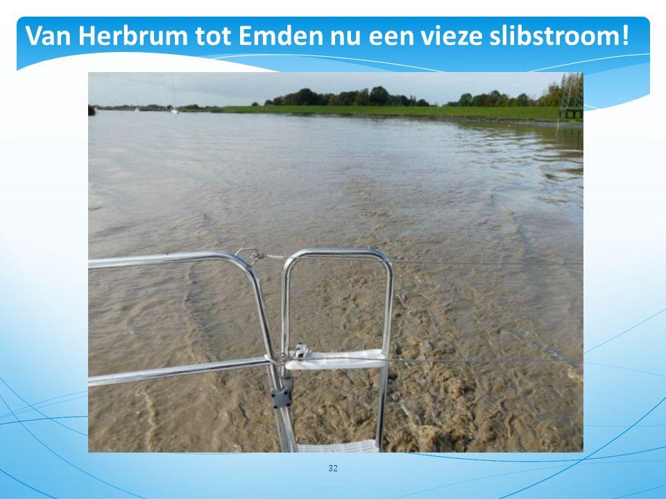 32 Van Herbrum tot Emden nu een vieze slibstroom!