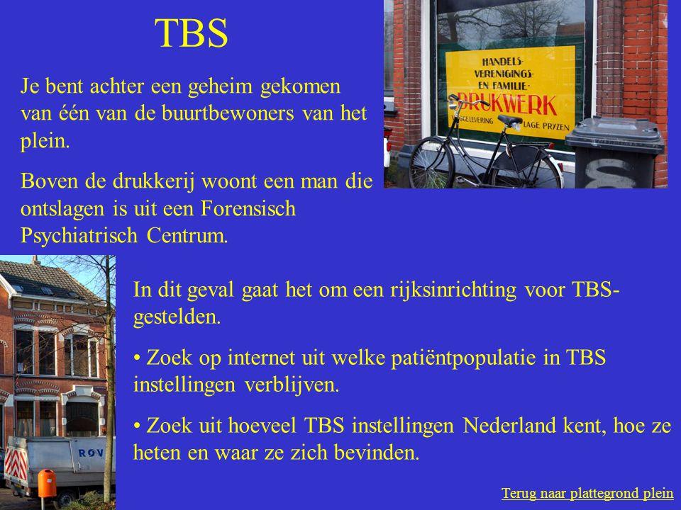 Terug naar plattegrond plein TBS Je bent achter een geheim gekomen van één van de buurtbewoners van het plein.