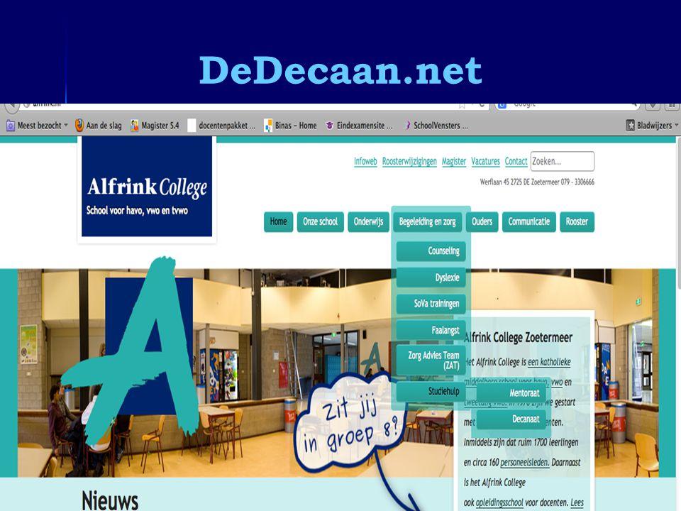 Informatieavond 4 vwo DeDecaan.net