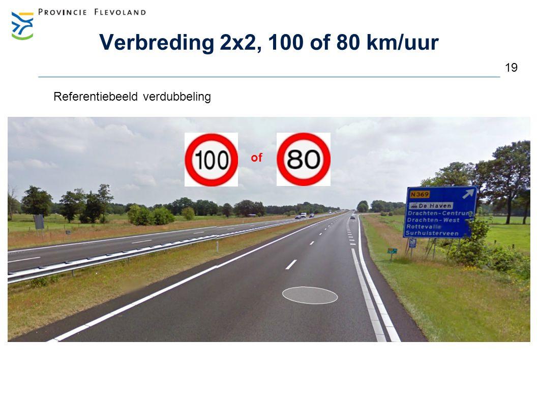 Verbreding 2x2, 100 of 80 km/uur 19 Referentiebeeld verdubbeling of