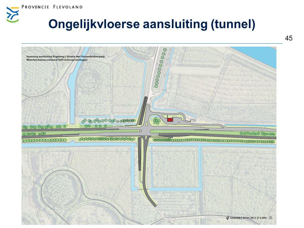 Ongelijkvloerse aansluiting (tunnel) 45