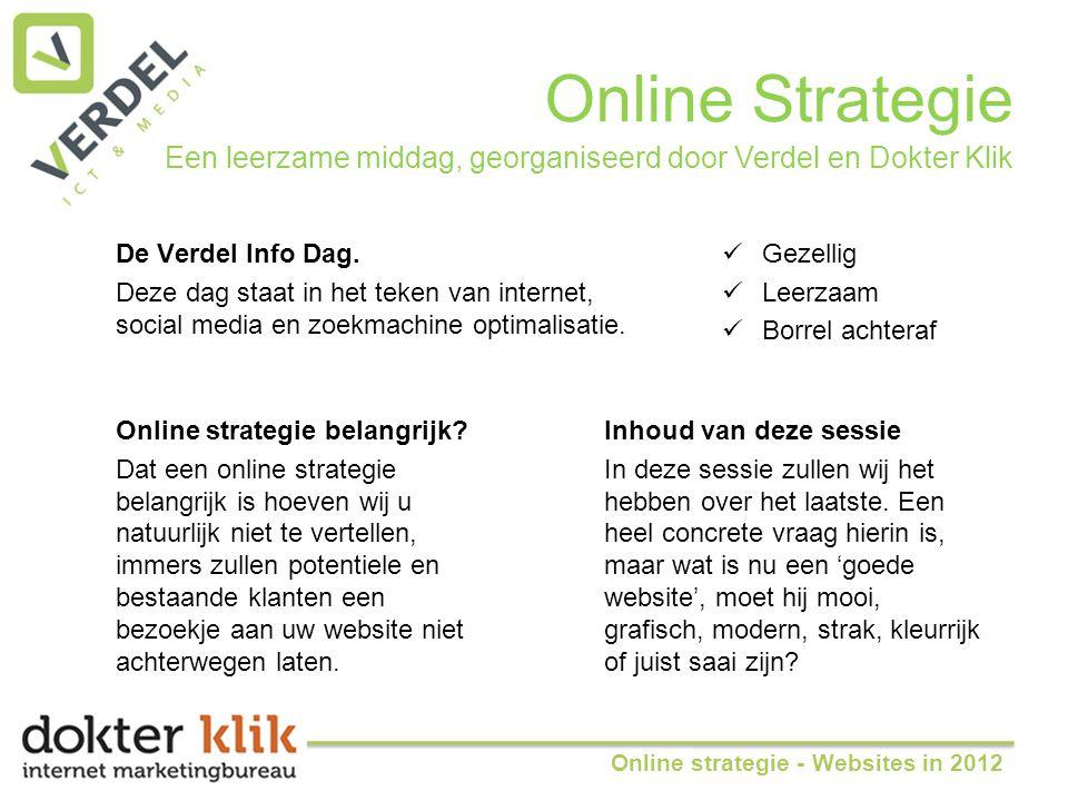 Online Strategie De Verdel Info Dag.