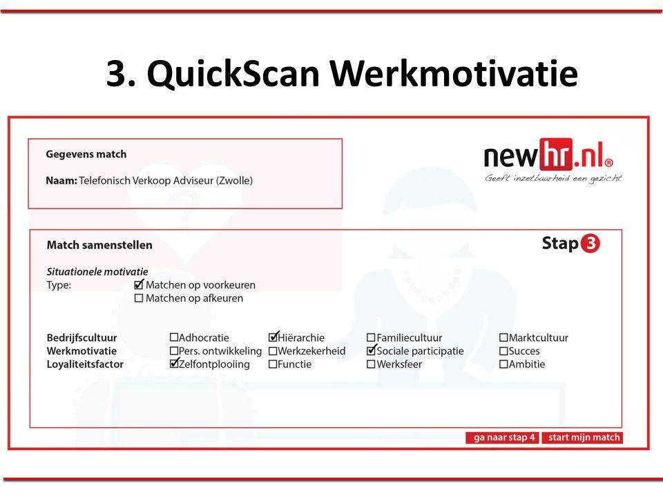 3. QuickScan Werkmotivatie