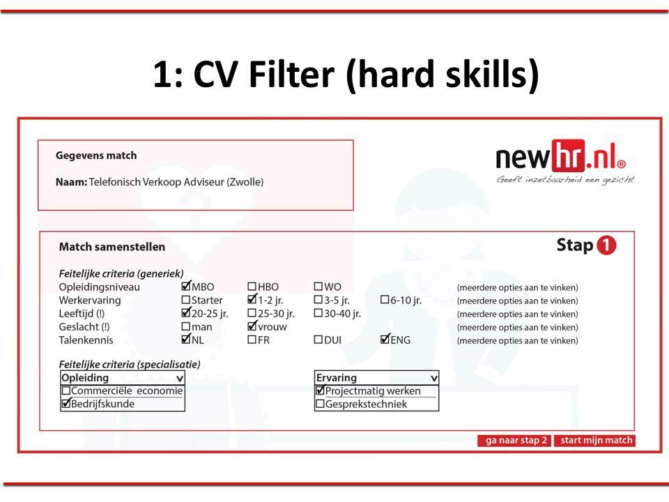 1: CV Filter (hard skills)