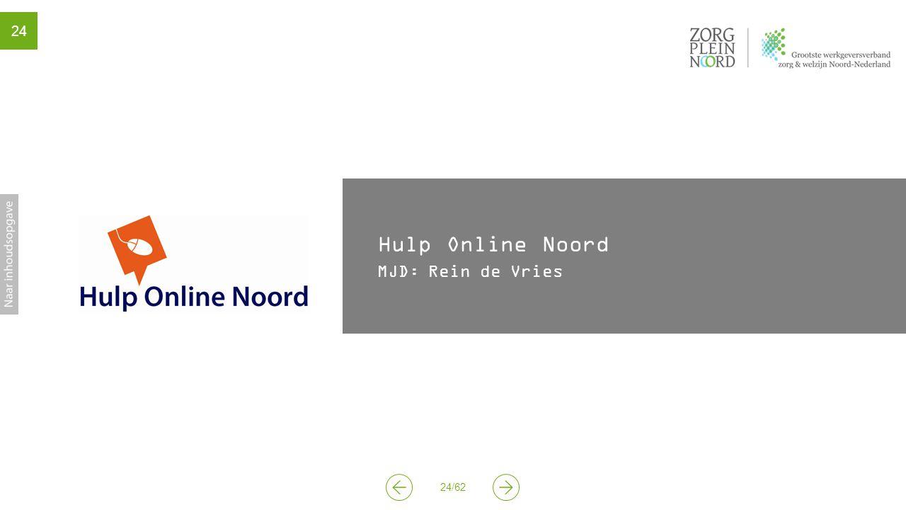 24/62 24 Hulp Online Noord MJD: Rein de Vries