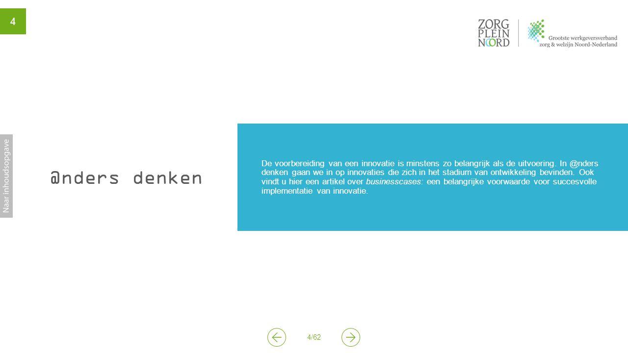 5/62 5 Van project naar duurzaam innoveren Businesscase en contextsensitiviteit als succesfactoren ZorgpleinNoord: Ellen Offers en Nynke Postma