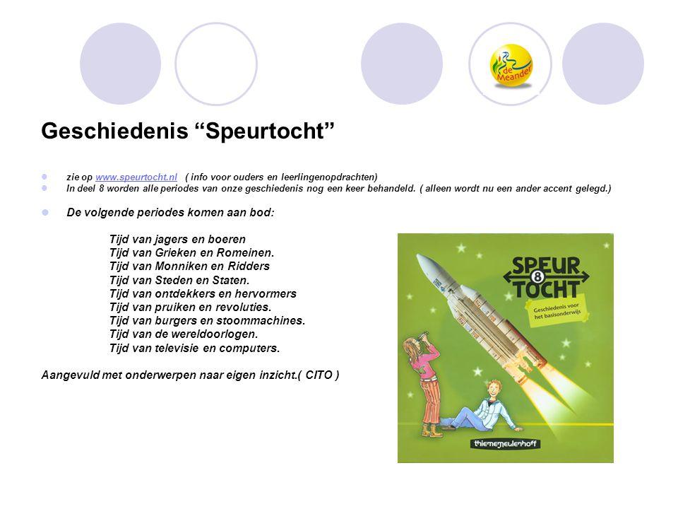 """Geschiedenis """"Speurtocht""""  zie op www.speurtocht.nl ( info voor ouders en leerlingenopdrachten)www.speurtocht.nl  In deel 8 worden alle periodes van"""