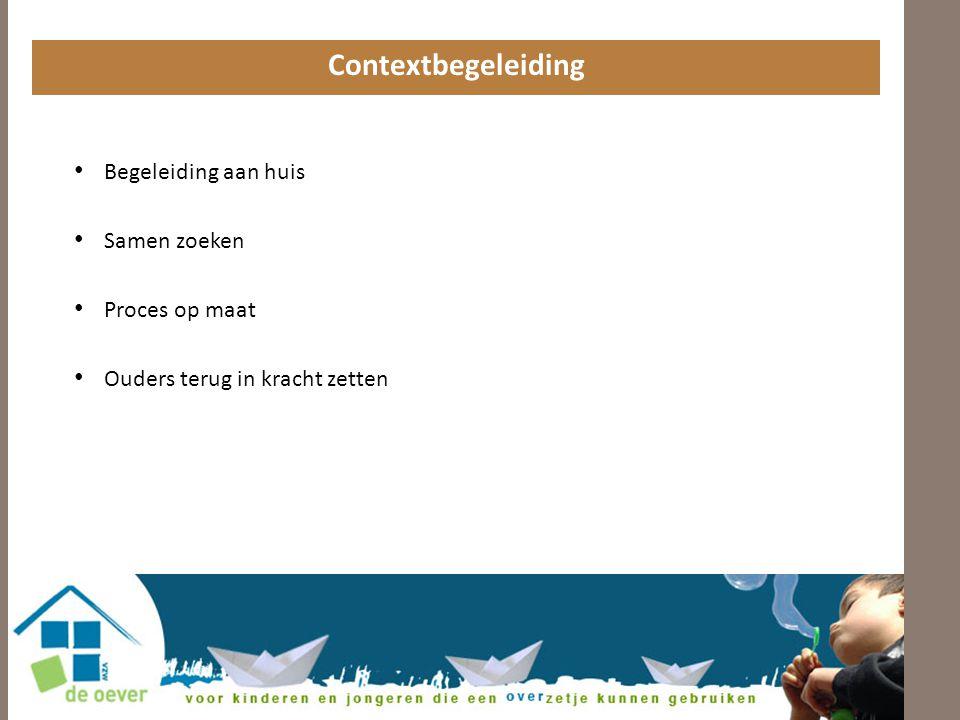 Contextbegeleiding • Begeleiding aan huis • Samen zoeken • Proces op maat • Ouders terug in kracht zetten
