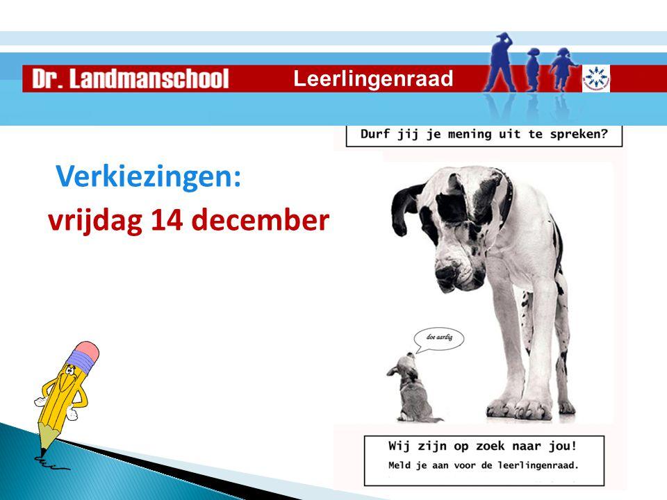 Verkiezingen: vrijdag 14 december Leerlingenraad